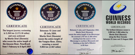 Martin Strel Guinness World Record Swimming